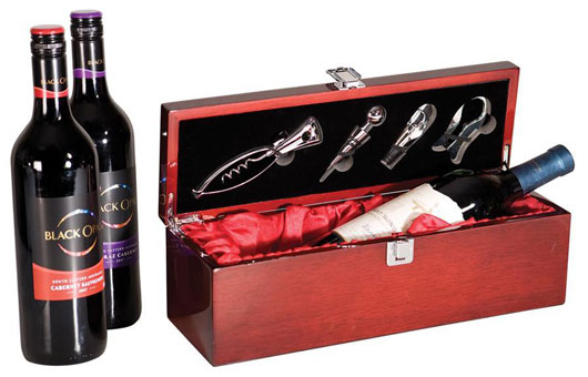 personalized wine box and gift set